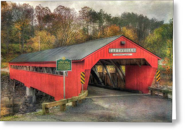 Greeting Card featuring the photograph Taftsville Covered Bridge Vermont by Joann Vitali