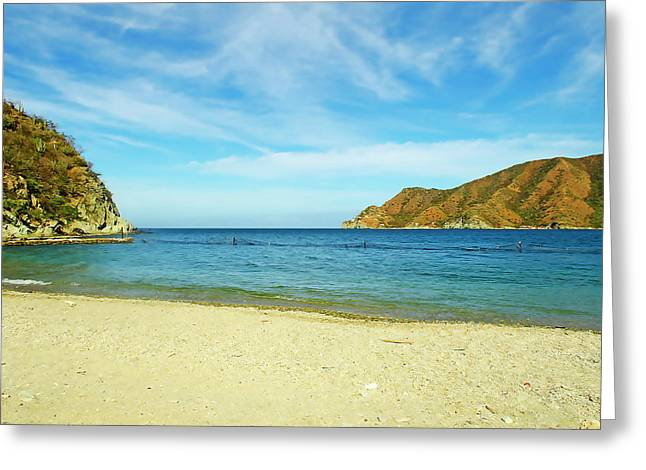 Taganga, Colombia Greeting Card by Stefanie Juliette