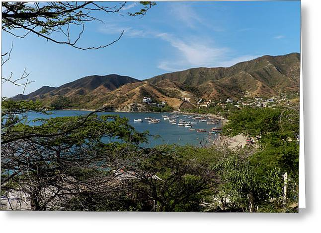 Taganga, Colombia -- Version 1 Greeting Card by Michael Evans