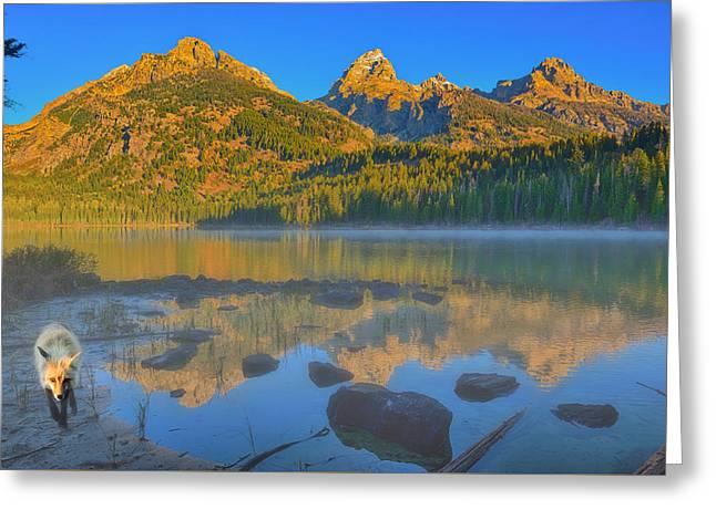 Taggart Lake Morning Greeting Card