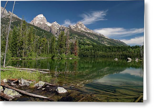 Taggart Lake Visit Www.angeliniphoto.com For More Greeting Card by Mary Angelini