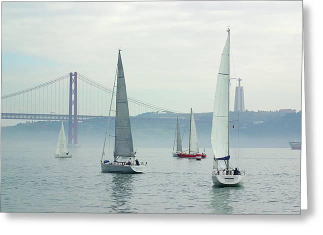 Tagus Sailing Greeting Card