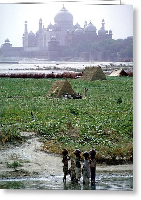 Tah Mahal At Agra In India Greeting Card