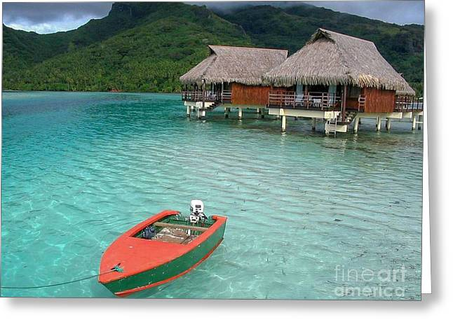 Tahitian Boat Greeting Card
