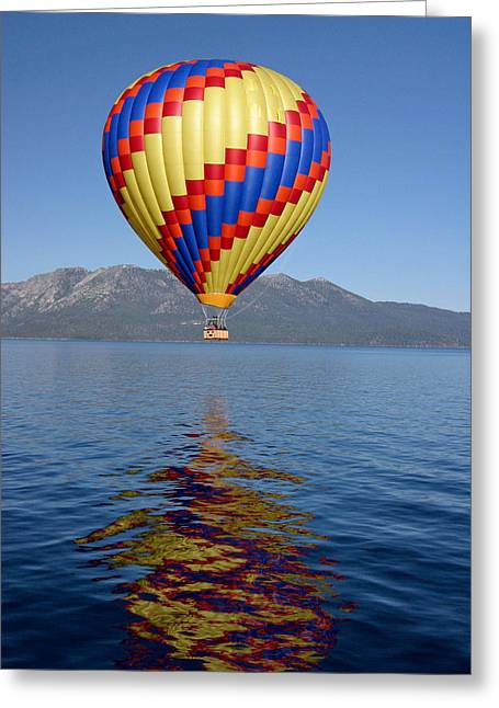 Greeting Card featuring the photograph Tahoe Balloon. by Mitch Shindelbower