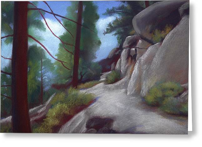 Tahoe Flume Trail Greeting Card