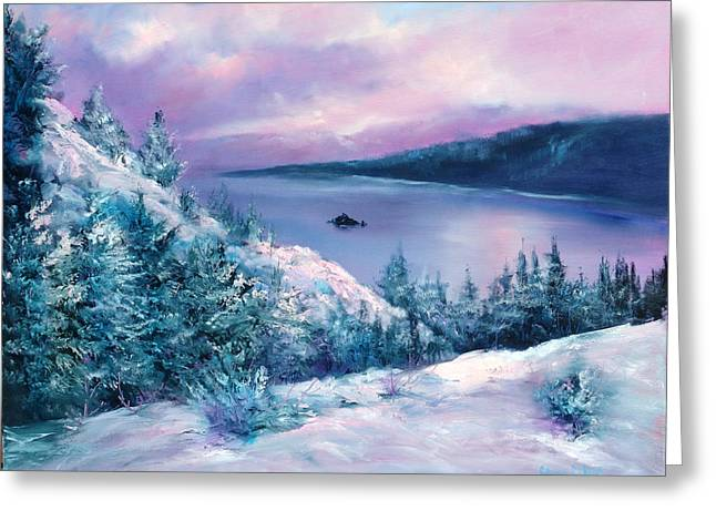 Tahoe Greeting Card by Sally Seago