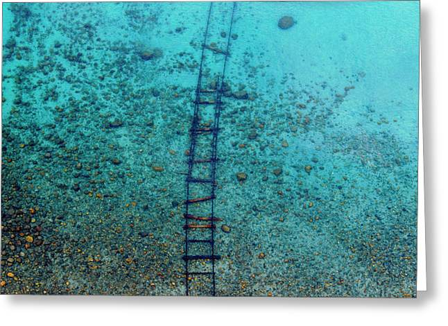 Greeting Card featuring the photograph Tahoe Tracks by Brad Scott