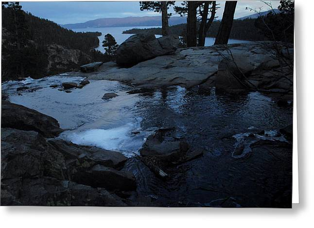 Tahoe Twilight Greeting Card by Donna Blackhall