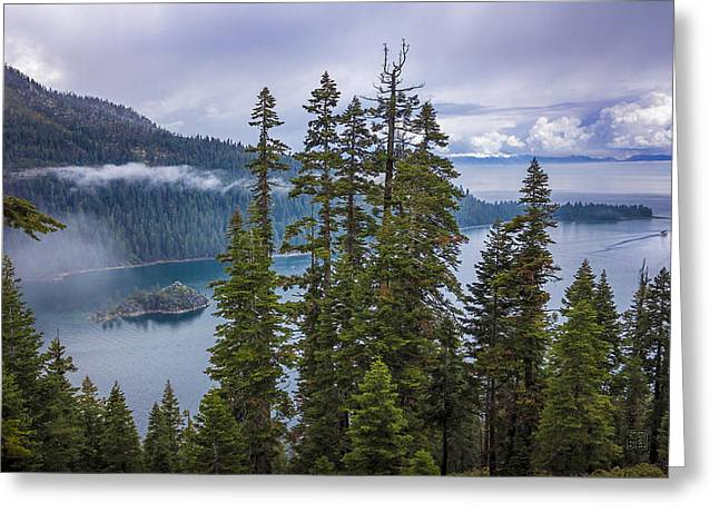 Emerald Bay With Steamboat Greeting Card