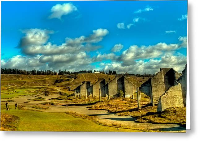 Tahoma - The 18th Hole At Chambers Bay Greeting Card