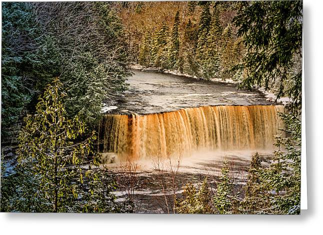 Tahquamenon Winter Falls  Greeting Card
