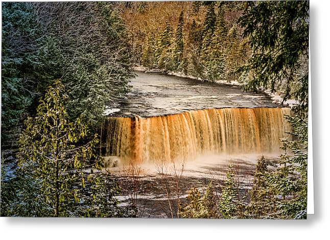 Tahquamenon Winter Falls  Greeting Card