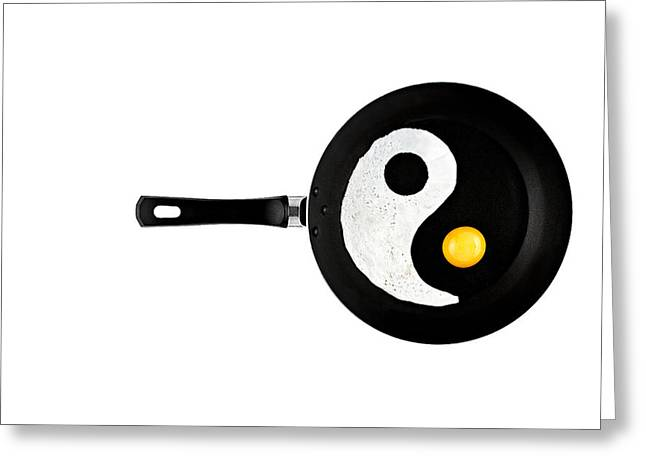 Ying And Yang Greeting Cards - Taijitu Greeting Card by Gert Lavsen