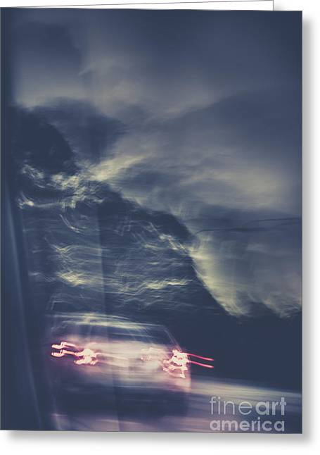 Tailing Car Trails Greeting Card