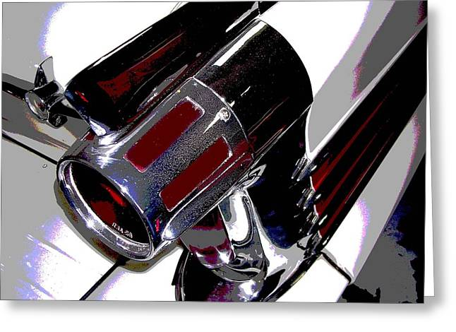 Taillight Greeting Card by Audrey Venute