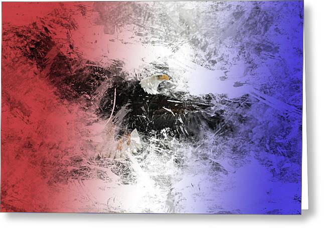 Tainted Eagle Greeting Card