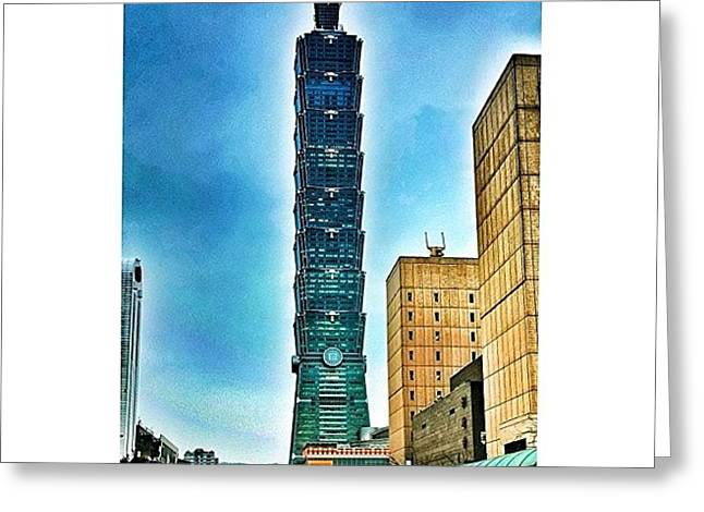 Taipei 101 (chinese: 台北101 / Greeting Card by Tommy Tjahjono