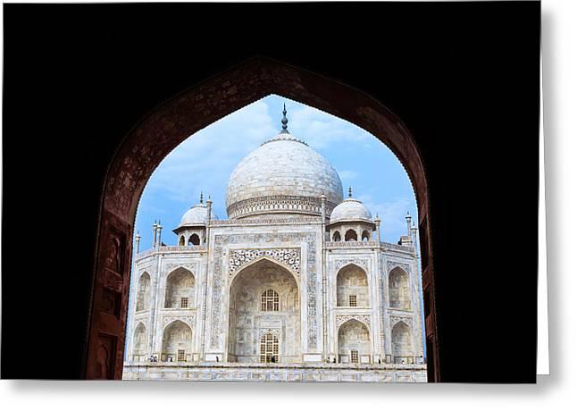 Taj Archway Greeting Card by Nila Newsom