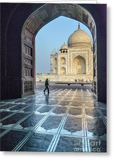 Taj Mahal 01 Greeting Card