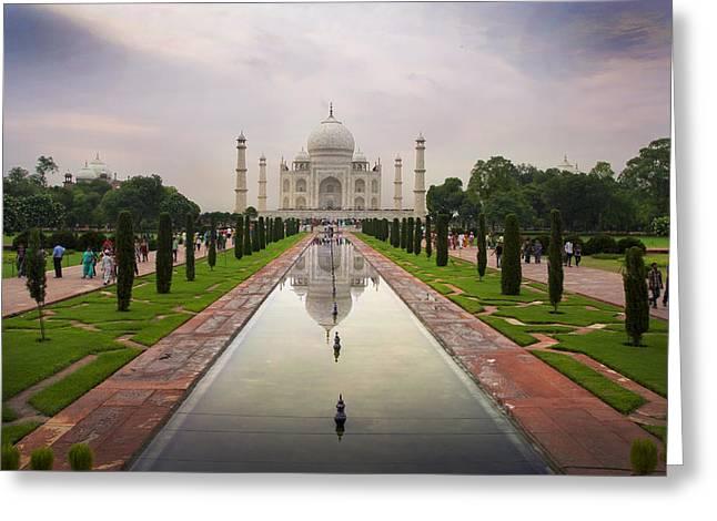 Taj Mahal At Sundown Greeting Card