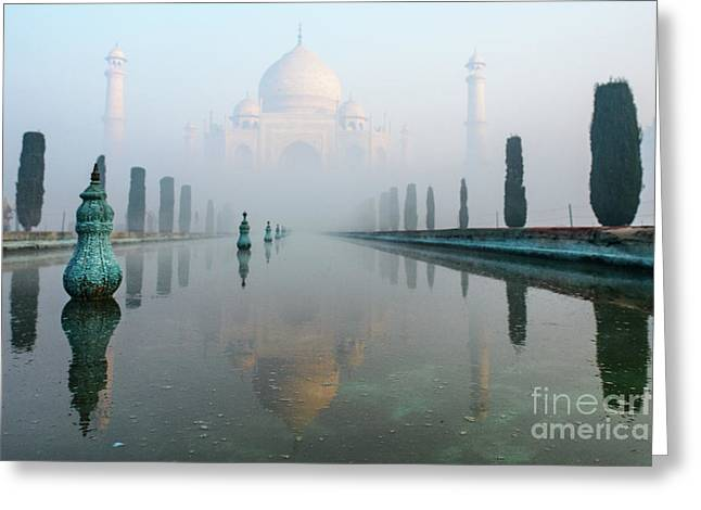 Taj Mahal At Sunrise 01 Greeting Card