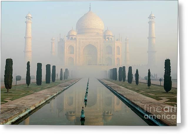 Taj Mahal At Sunrise 02 Greeting Card