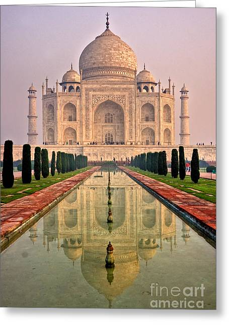 Taj Mahal At Sunrise Greeting Card