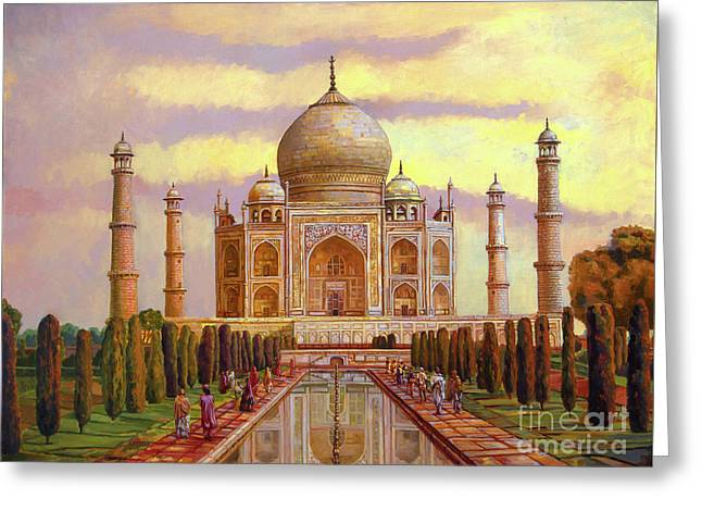 Taj Mahal Greeting Card by Dominique Amendola