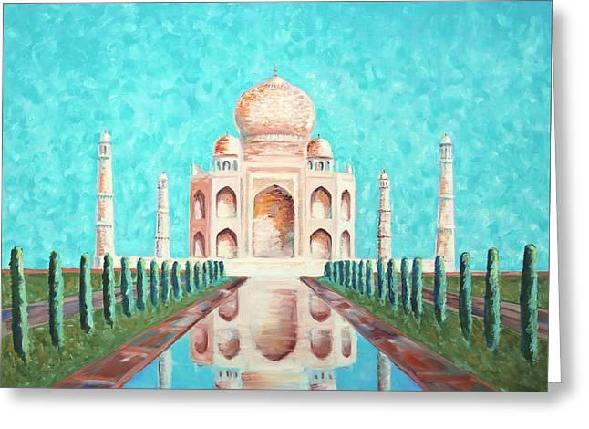 Taj Mahal Greeting Card