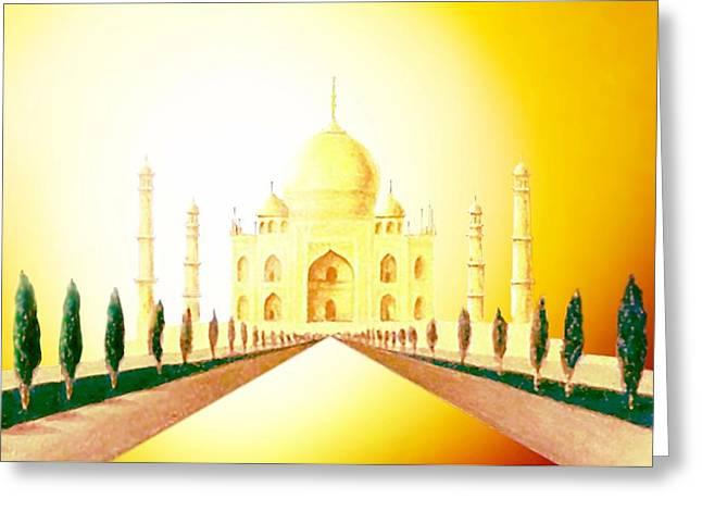 Taj  Mahal Greeting Card by Hartmut Jager