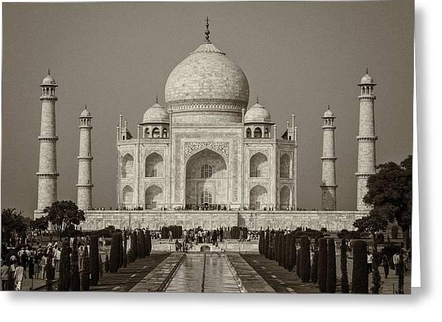 Taj Mahal Greeting Card by Hitendra SINKAR