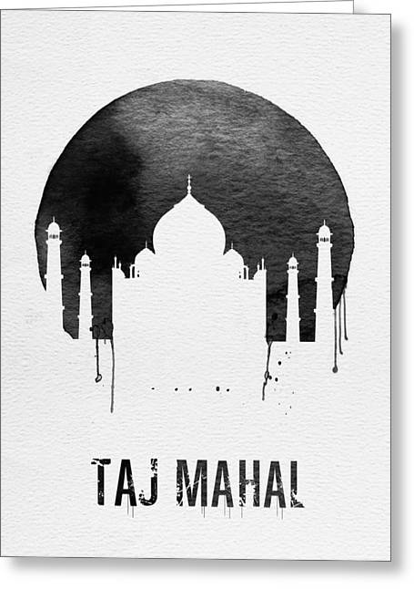 Taj Mahal Landmark White Greeting Card