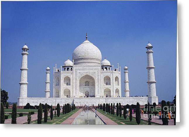 Taj Mahal Landscape Greeting Card