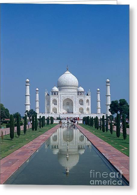 Taj Mahal View Greeting Card