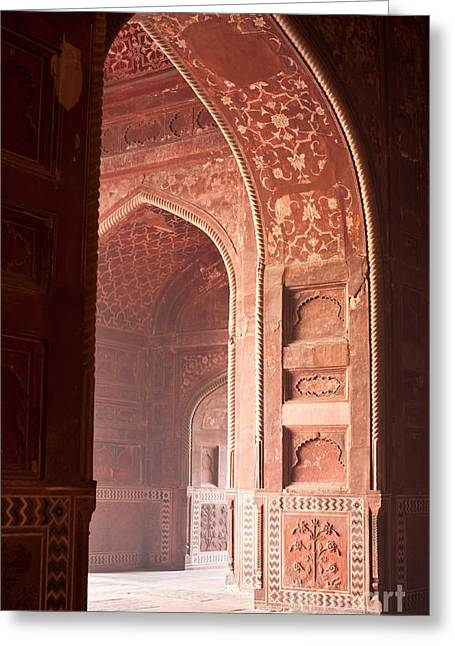 Taj Opening Greeting Card by Mike Reid