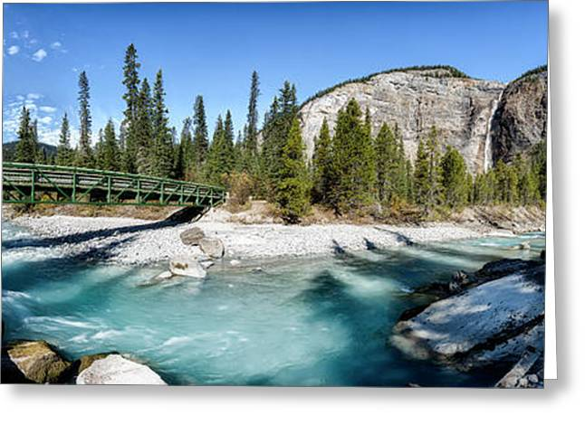 Greeting Card featuring the photograph Takakkaw Falls by Brad Allen Fine Art