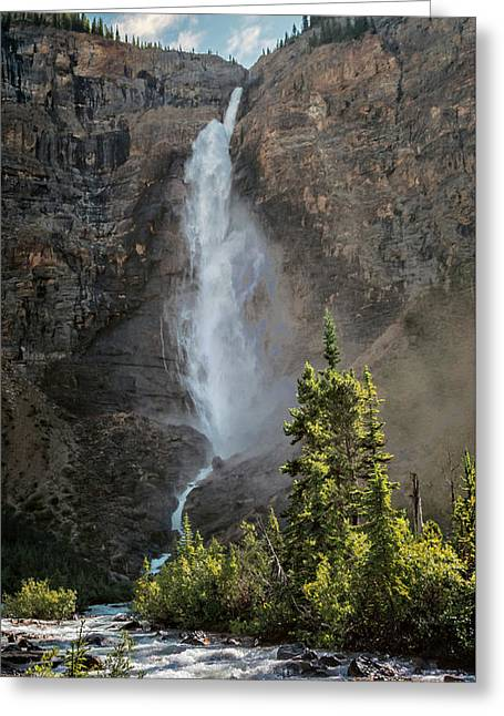 Takakkaw Falls British Columbia Greeting Card