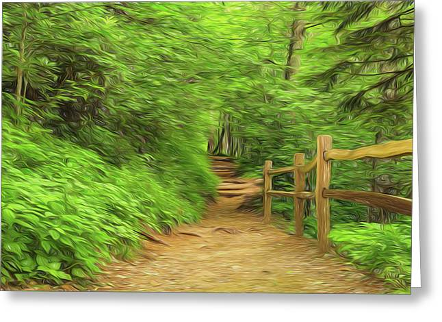 Take A Hike Greeting Card by Stephen Stookey