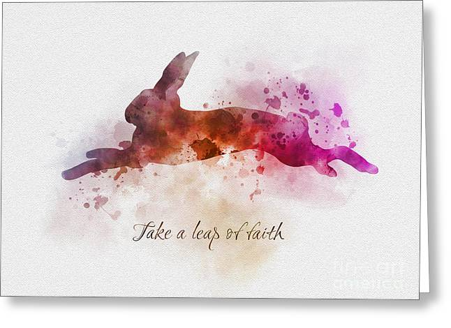 Take A Leap Of Faith Greeting Card
