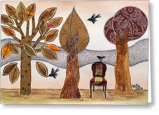 Take A Rest In Autumn Greeting Card by Graciela Bello