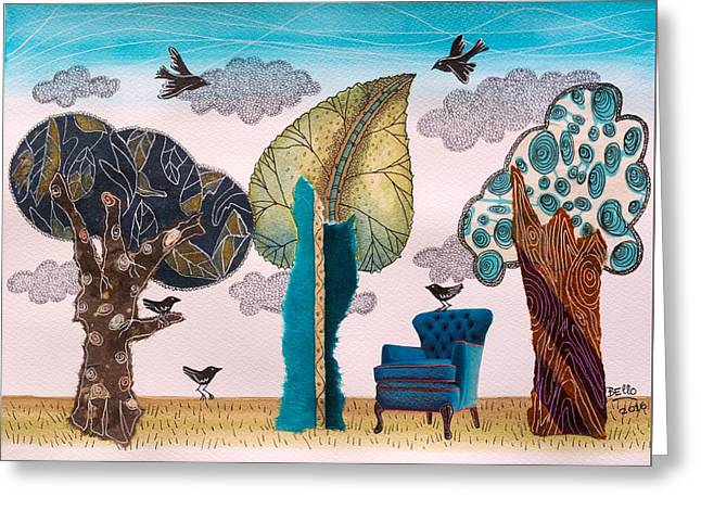 Take A Rest In Spring Greeting Card