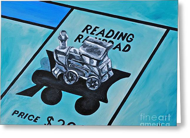 Take A Ride On The Reading  Greeting Card by Herschel Fall