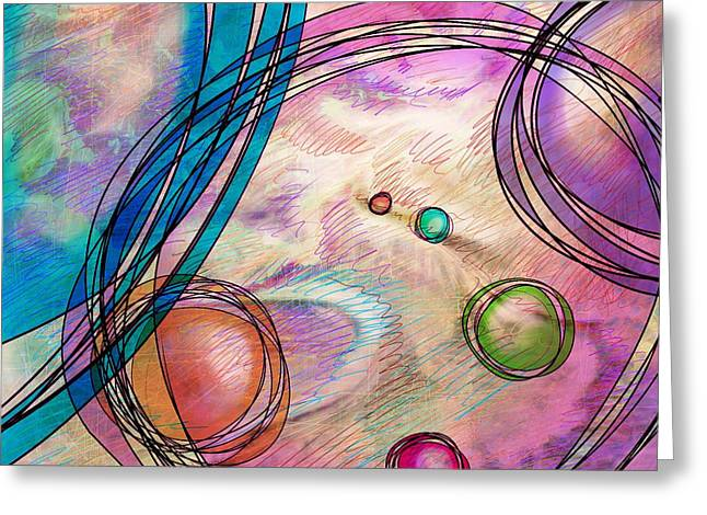 Hallucination Digital Greeting Cards - Take a right up here Greeting Card by Rachel Christine Nowicki