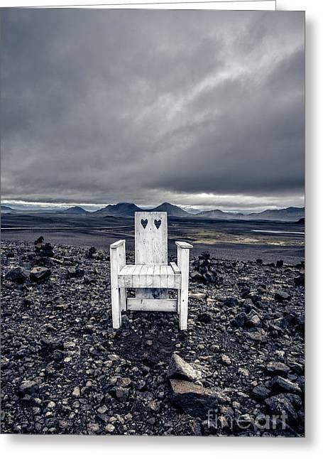Greeting Card featuring the photograph Take A Seat Iceland by Edward Fielding