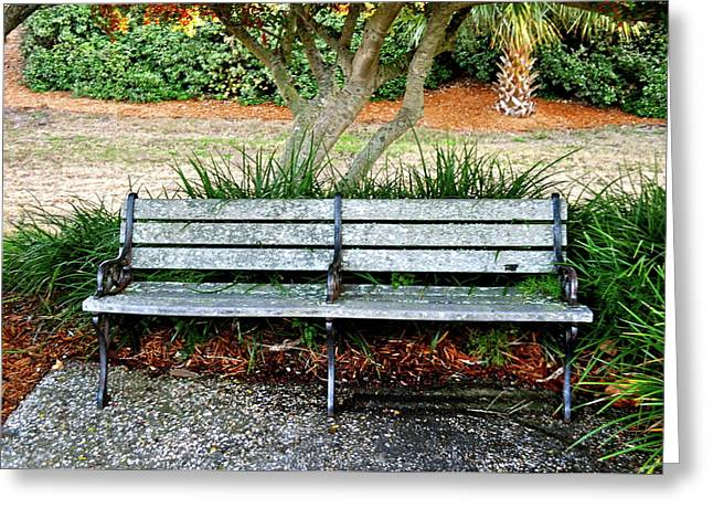 Take A Seat Lovey Greeting Card by Laura Ogrodnik