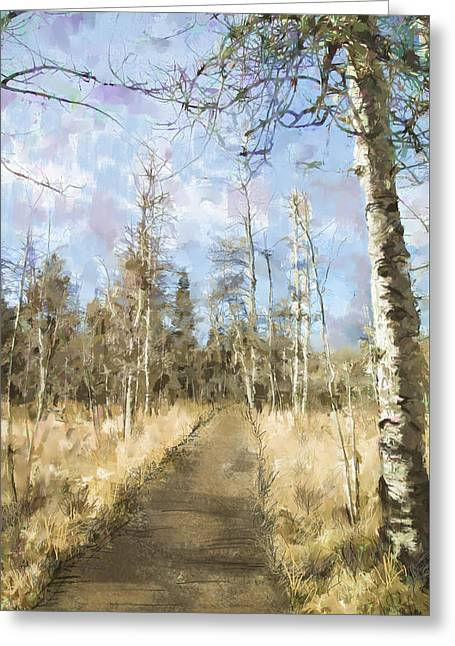 Take A Walk Greeting Card by Annette Berglund