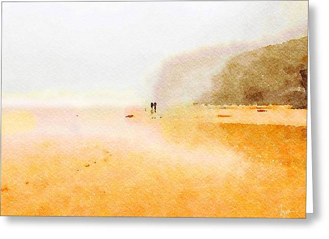 Greeting Card featuring the painting Take A Walk With Me by Angela Treat Lyon