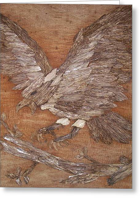 Eagle Reliefs Greeting Cards - Take break Greeting Card by Joedhi