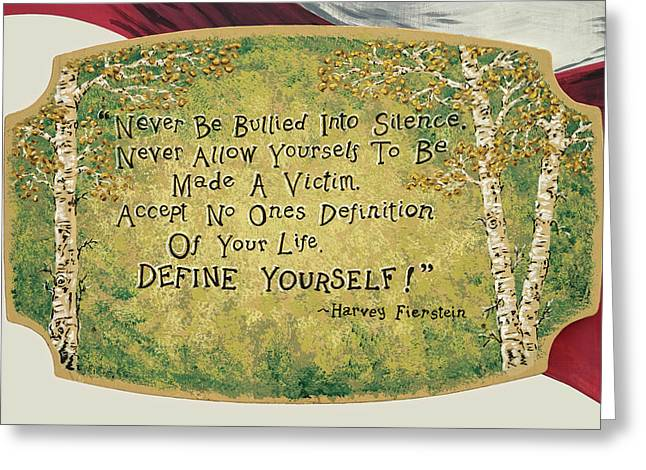 Take Charge Of Your Life.  Greeting Card